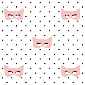 Girly Superhero Masks on Polka Dots