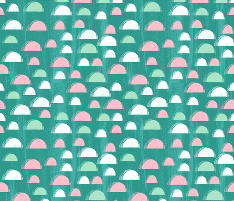 scallop // spring summer bright tropical abstract design pink mint and turquoise girls summer fabric fabric by andrea_lauren on Spoonflower - custom fabric