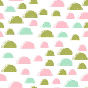 scallop // summer spring scallops easter spring mint and pink girls nursery abstract