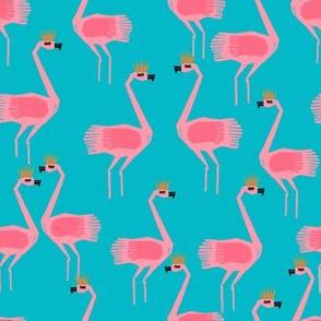 flamingo princess // tropical summer flamingo turquoise and pink flamingo fabric cute pink summer birds design