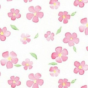 pink and yellow floral watercolor