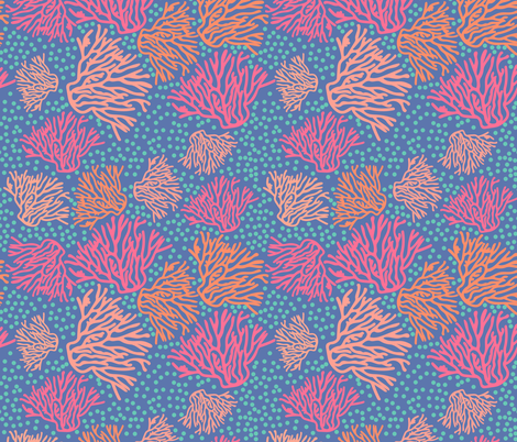 Coral Swirl fabric by sopupuka on Spoonflower - custom fabric
