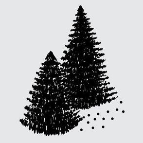 """8"""" Quilt Block - Pine trees"""