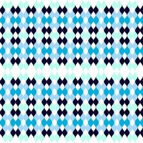 Argyle knit MED 197- seashore