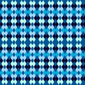 Argyle knit - ocean blue
