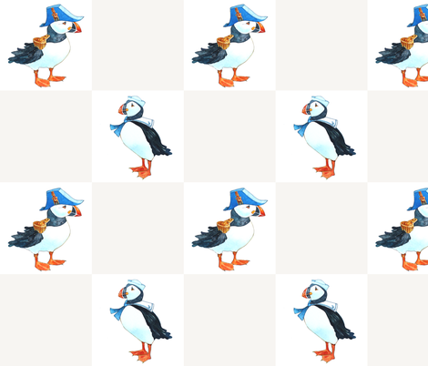 big puffins fabric by golders on Spoonflower - custom fabric