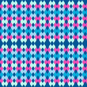 Argyle knit - ocean pink