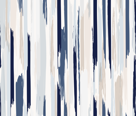 feathered stripe fabric by crystal_walen on Spoonflower - custom fabric