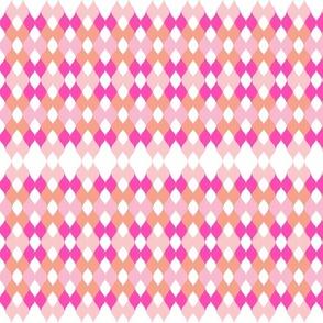 Argyle knit - sorbet
