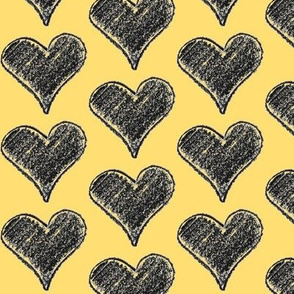 Hearts in yellow