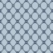 Acorns Lattice - Charcoal Blue