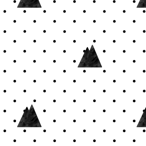 Faded Mountains on Dots fabric by ajoyfulriot on Spoonflower - custom fabric