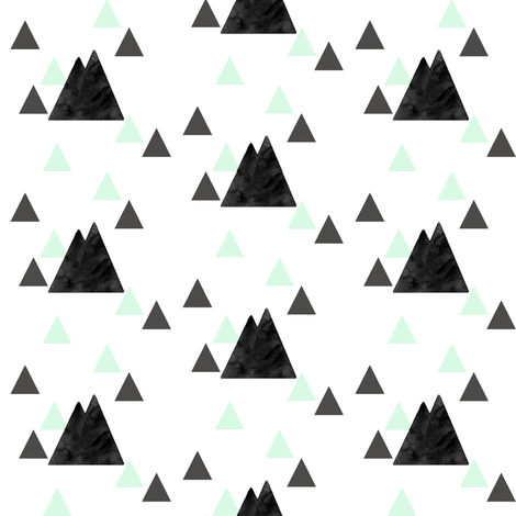 Faded Mountains on Triangles fabric by ajoyfulriot on Spoonflower - custom fabric