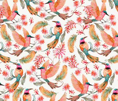 Bee eater design challenge fabric by mister-moon on Spoonflower - custom fabric