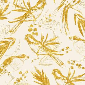 Birds of paradise gold