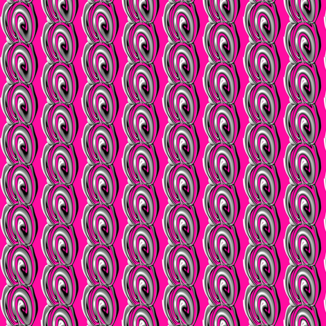 Pink Grey Swirl fabric by necie_marie_designs on Spoonflower - custom fabric