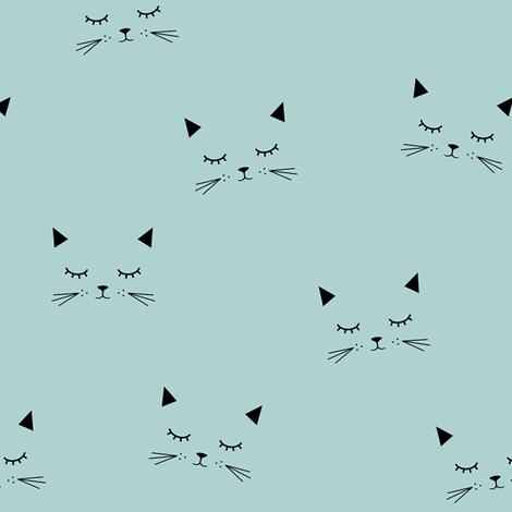 Cats - icy morn fabric by kimsa on Spoonflower - custom fabric