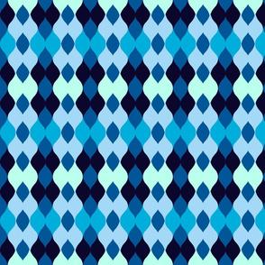Argyle knit 306 - ocean blue