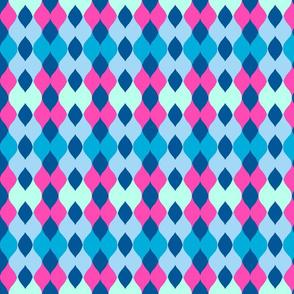 Argyle knit 306 - ocean pink