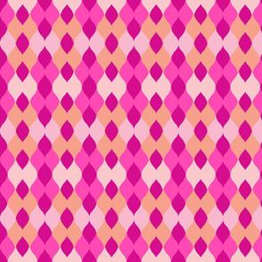 Argyle knit 306 - Pink flamingo