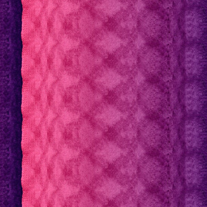 Knitted Pink & Purple Repeat