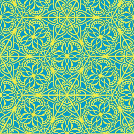 Kaleidoscope Retro T/Y fabric by mutterfit on Spoonflower - custom fabric