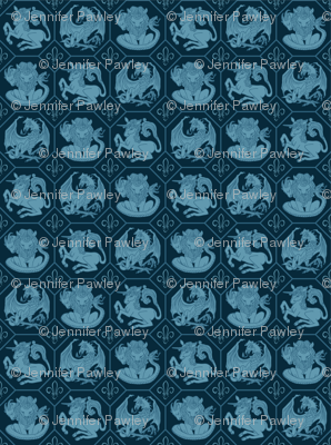 Fantasy Creatures Fabric The Geek Forge Spoonflower
