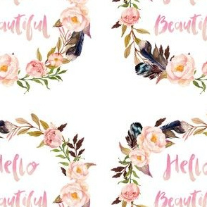 "5"" Hello Beautiful for Quilting"