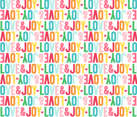 love joy alternating LG fabric by misstiina on Spoonflower - custom fabric