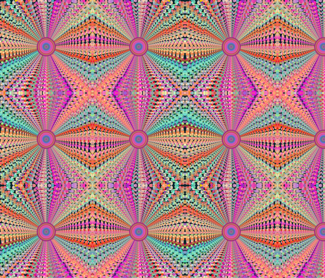 SPIDER TUNNEL PSYCHEDELIC CORAL PINK fabric by paysmage on Spoonflower - custom fabric