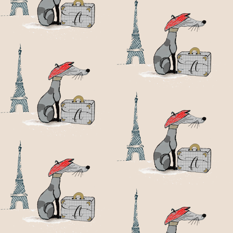 Franc Knew Paris was a Good Idea fabric by blackwooddesign on Spoonflower - custom fabric