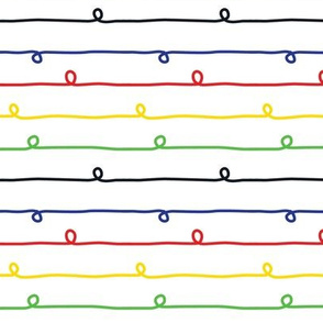 Colorful Stripes - Small Rainbow Stripes and Loops on White