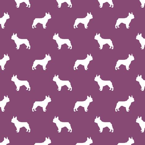 french bulldog fabric dog silhouette fabric - amethyst fabric by petfriendly on Spoonflower - custom fabric