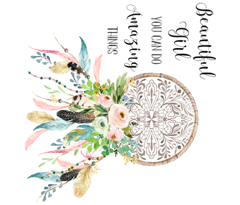 Spring Time Dream Catcher Beautiful Girl Quote Giftwrap