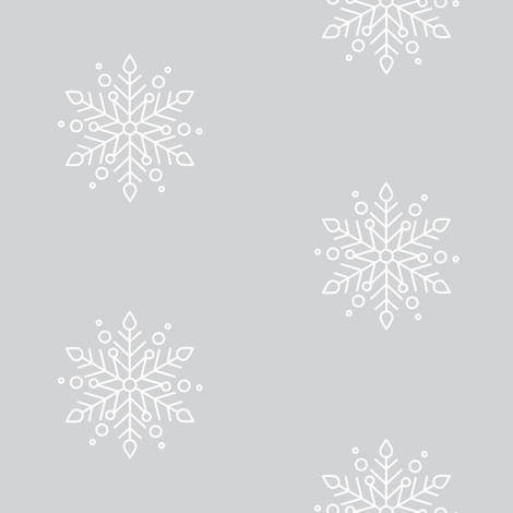 Gray Snowflake fabric by laurapol on Spoonflower - custom fabric