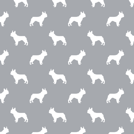 french bulldog fabric dog silhouette fabric - quarry fabric by petfriendly on Spoonflower - custom fabric