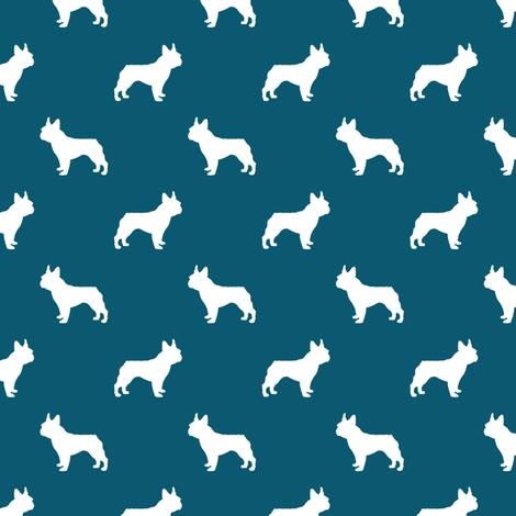 french bulldog fabric dog silhouette fabric - sapphire fabric by petfriendly on Spoonflower - custom fabric