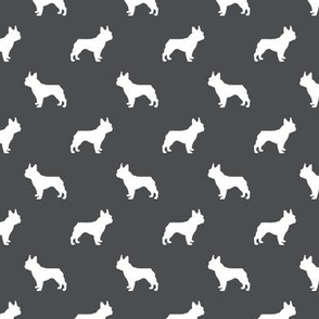 french bulldog fabric dog silhouette fabric - shadow