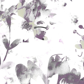 Washed out purple and grey Florals