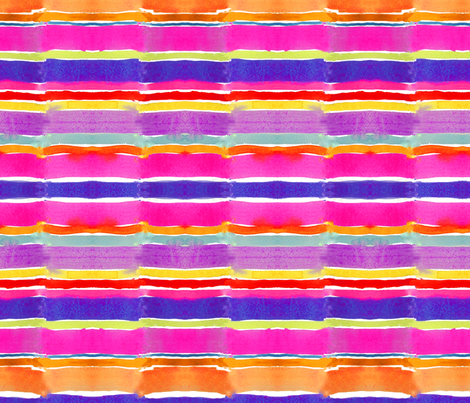 Summer Watercolor Stripes fabric by theartwerks on Spoonflower - custom fabric