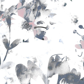 Washed out Grey Florals