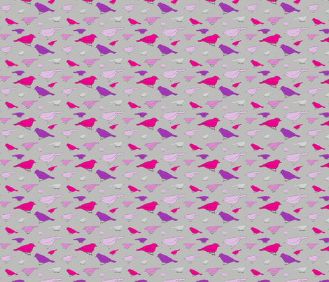 small purple birds fabric by dave_wilson on Spoonflower - custom fabric