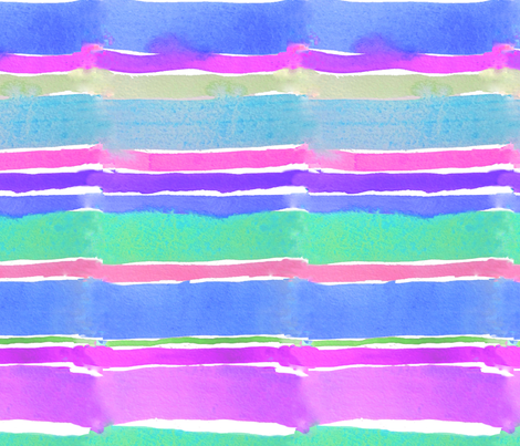 Spring Watercolor Stripes fabric by theartwerks on Spoonflower - custom fabric
