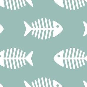 Large Fishes on Dark Aqua