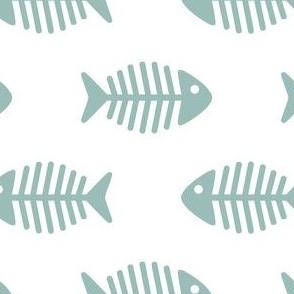 Large Dark Aqua fishes