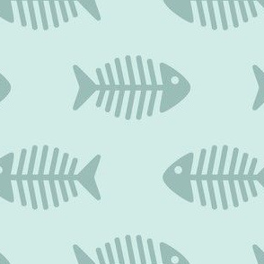 Large Fishes on Aqua