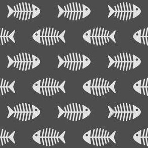 Fishes on Dark Grey