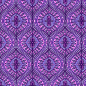 Tropical Watercolor Ogee Leaves of purple