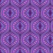 Bohemian Watercolor Ogee Leaves of purple