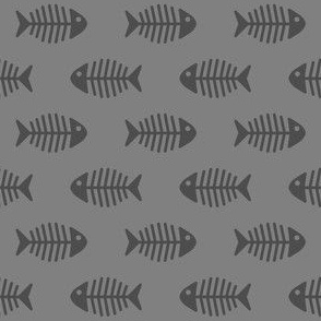 Dark Grey Fishes on Grey